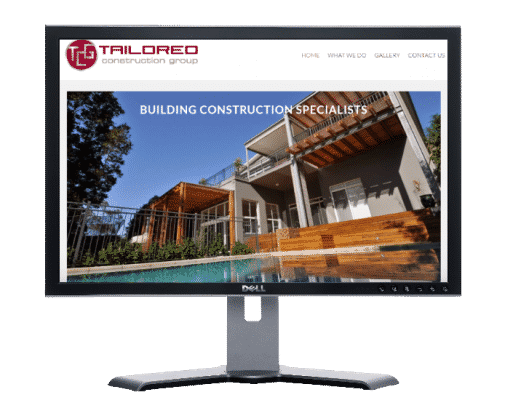 construction company-Website by web designer Angie from Siti Web Economici