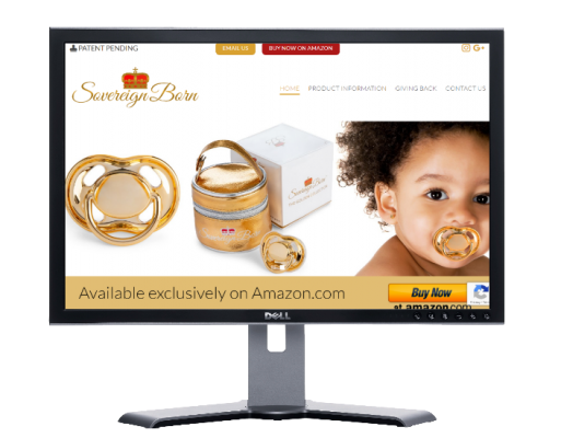 sovereign born baby pacifiers, Website by web designer Angie from Siti Web Economici